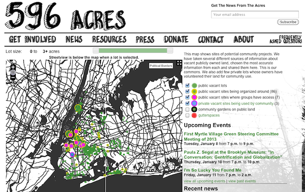 Vacant-land organizing in Philly going social with NYC's 596 Acres