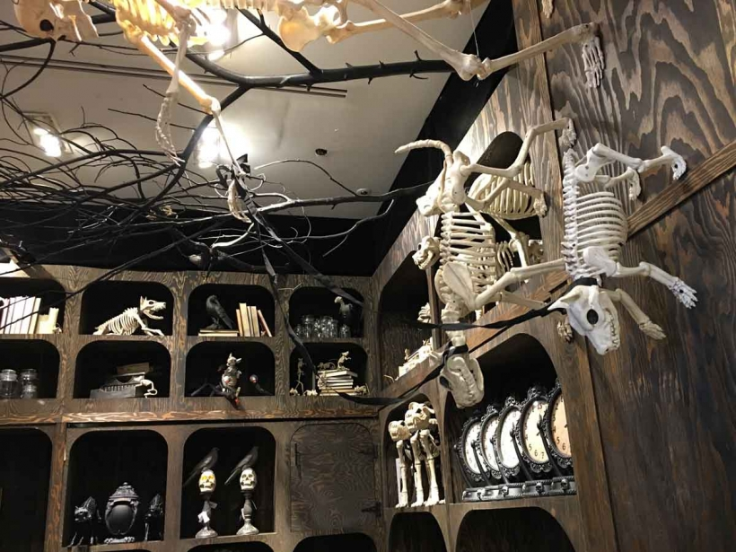 Spooky decor at Macy's Herald Square for your stylish Hallow's Eve