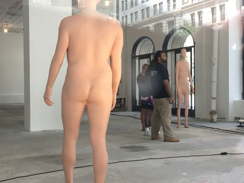 Nude Sculptures turning heads in Gramercy Park