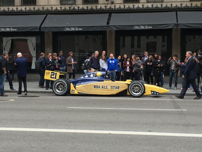 IndyCar in NYC to help bid for the 2021 NBA All-Star Game