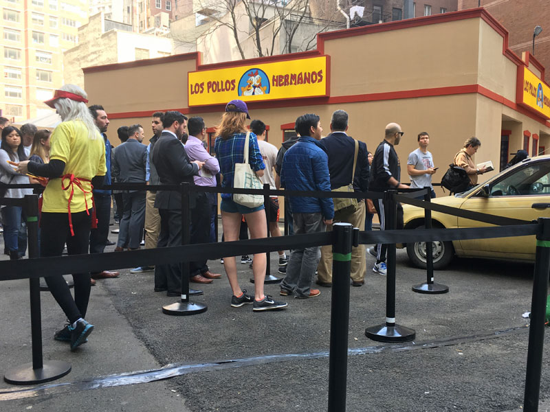 Los Pollos Hermanos pop-up restaurant in NYC