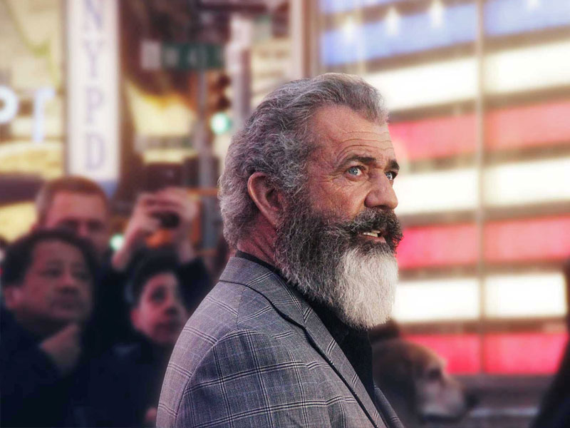 Mel Gibson promotes his World War II film 'Hacksaw Ridge' in Times Square