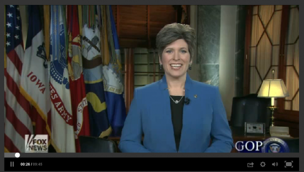 EXCLUSIVE: The lost State of the Union rebuttal speech of Iowa Sen. Joni Ernst
