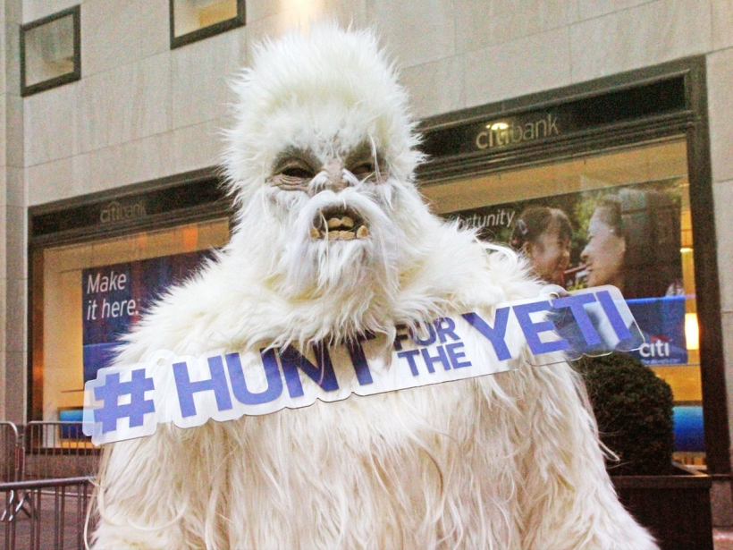 Yeti spotted in New York City